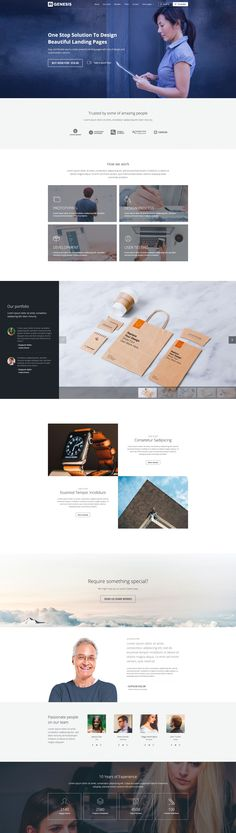 Modern and creative agency landing page drag and drop page builder