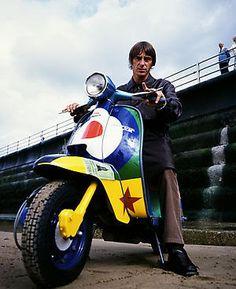 Paul Weller on a Lambretta  Modern Vespa : Celebrity Scooters