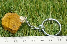 Natural Tiger's Eye Keychain Healing Crystal Accessories Mineral Stone, Crystal Healing, Pendants, Personalized Items, Eyes, Crystals, Nature, Stones, Accessories