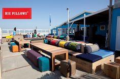 ZandZeeBar Terschelling nieuw terras 2013 By Big Pillows, Het ultieme buitengenieten! Big Pillows, Outdoor Furniture Sets, Outdoor Decor, Netherlands, Holland, Beach House, Nostalgia, Patio, Live