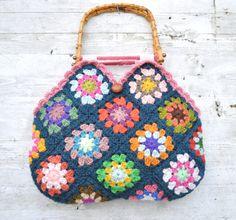 Crochet 'granny square' bag, ★  Ganchillo  ♥ Crochet ★