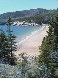 Sand beach at Bar Harbor...no sand actually shells.  Spectacular!
