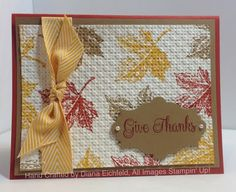 Stampin' Fun with Diana: 30 Day Gratitude Card Challenge: Day 9, Best of Fall, Thanks, Card, Stampin' Up, Diana Eichfeld