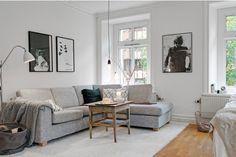 decoração sofá cinza claro - Pesquisa Google