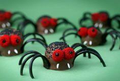 Creepy Crawly Brownie Bite Spiders!