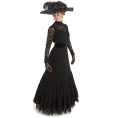 Buy Araminta Edwardian Dress from Recollections. Edwardian Dress, Historical Costume, Scalloped Lace, Costumes For Women, Pretty Dresses, Victorian, Gowns, Lady, Michael Landon