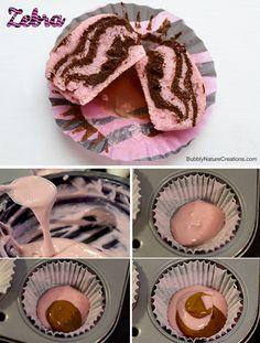 Zebra Cupcake design!