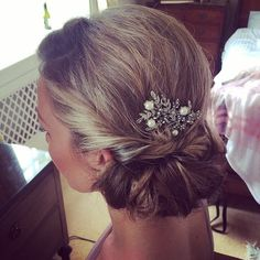 Bridesmaid hair - low loose vintage up do