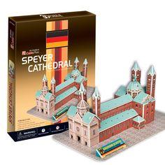 Mô hình giấy Nhà thờ chính tòa Speyer ở Đức (41 mảnh) | Cubic Fun | Mô hình giấy 3D Cubic Fun | 123.vn