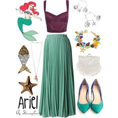 """Ariel"" by disneylooks Disney Bound Outfits Casual, Cute Disney Outfits, Disney Dress Up, Disney Themed Outfits, Cute Outfits, Disney Clothes, Princess Inspired Outfits, Disney Princess Fashion, Disney Inspired Fashion"