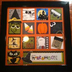 Halloween punch art project