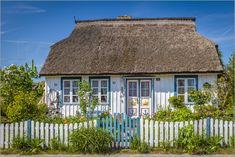 Poster Reetdachhaus an der Ostsee