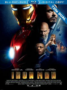 Demir Adam 1 - Iron Man 1 - 2008 - 720p - Dual - Turkce Dublaj Bluray 720p Cover Movie Poster Film Afisleri - http://720pindir.com/Demir-Adam-1-Iron-Man-1-2008-720p-Dual-Turkce-Dublaj-indir-7408
