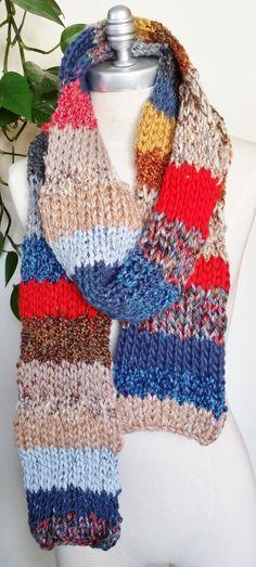 Gypsy Bohemian Scarf Knit Scarf Mixed Fiber by jamiesierraknits, $45.00