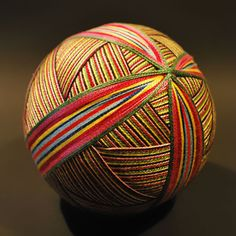 "Amazing collection of traditional Japanese balls ""temari"" embroidered by 92-year-old grandmother, Nana Akua"