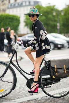High heels and two wheels