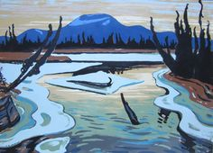 Jackson - Smart River (Alaska) serigraphy (silkscreen or screen print) Tom Thomson, Emily Carr, Group Of Seven Art, Group Of Seven Paintings, Canadian Painters, Canadian Artists, Jackson, Landscape Art, Landscape Paintings