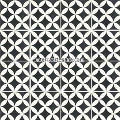 Cement Floor Tile 'Circulos' - Terra Artesana