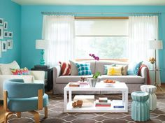 Wonderful Turquoise Color Scheme for Interiors