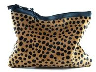 Spotted II Calf Hair & Leather Statement Clutch