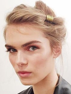 The Beautiful, Romantic Hairstyle Backstage at Alberta Ferretti That Has Us Dreaming of Wedding Season | allure.com