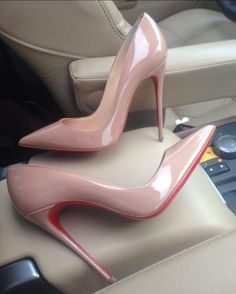 Soft Pink Varnish High Heel Shoes