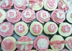 baby shower cupcakes for girls | Pure Delights Baking Co.: Baby Girl Shower Cupcakes