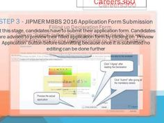 How to fill JIPMER MBBS Application Form 2016