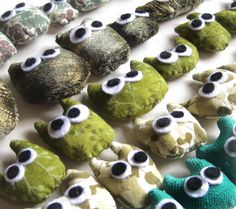 fabric owls...cute!