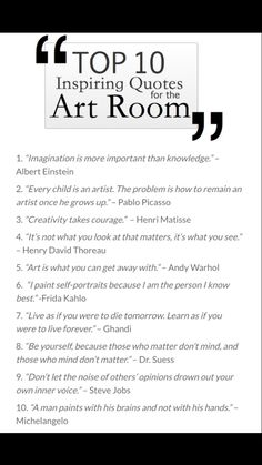 Art Room Quotes                                                                                                                                                      More