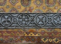 Highly detailed photos of tile and mosaics in the Hagia Sofia