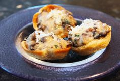 Easy mushroom croustades recipe using a creamy duxelle filling in a little bread cup is an ideal elegant and comforting party appetizer