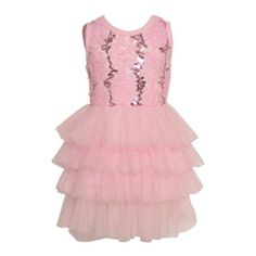 a013f17990bb75 Little Girls Pink Flower Embroidery Sequin Tutu Special Occasion Dress 2T-6