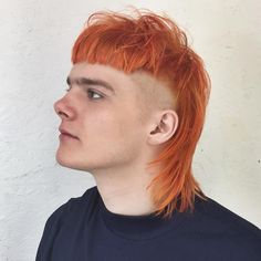 The Mullet Haircut A modern way to wear the orange Ziggy Stardust mullet Mullet Haircut, Mohawk Mullet, Mullet Hairstyle, Hairstyle Ideas, Cool Hairstyles For Men, Haircuts For Men, Men's Hairstyles, Men's Haircuts, Mens Hair Colour