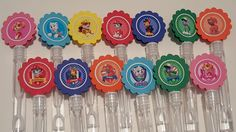 Paw Patrol Mini bubble wands birthday party favors - set of 15 by MagikalMermaid on Etsy https://www.etsy.com/listing/288550227/paw-patrol-mini-bubble-wands-birthday
