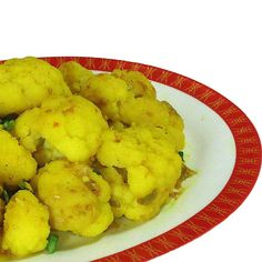 Cauliflower and Scallions with Turmeric Chili and Mustard Seeds