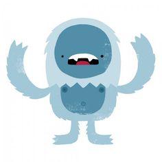 Yeti by Monster Riot Snow Monster, Monster Art, Monster Illustration, Children's Book Illustration, Dragons, Character Art, Character Design, Character Ideas, Let's Make Art