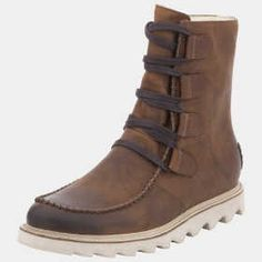 men's Sorel boots - Made of rich, burnished leather, the lace-up boot is built to resist rain, sleet, and the occasional spilled Manhattan. Perfect for Jesse