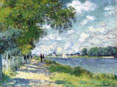 """bofransson: """"Claude Monet 1840 - 1926 La Seine À Argenteuil """""""