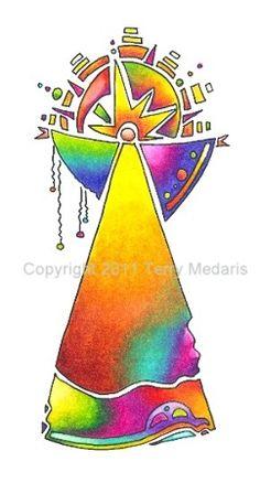 Greeting Card - Rainbow Angel