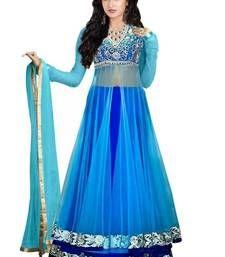 Sky blue net embroidery unstitched lehenga choli Shop Online