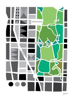 MANHATTAN, svart 31X42CM på Nordic Design Collective