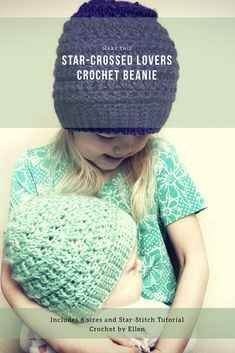 11429e8b7cb23 Star-Crossed Lovers Beanie   Pattern Only. Crochet Beanie Pattern. Fitted Hat  Pattern. Intermediate Crochet Pattern. Toque Pattern. PDF