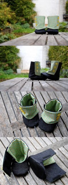 3 Button Boots (pattern by ithinksew.com)