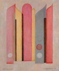 Composition abstraite Orgues bien tempérées von Marcel-Louis Baugniet