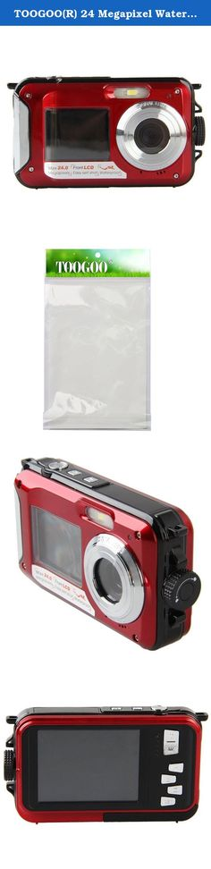 "TOOGOO(R) 24 Megapixel Waterproof Dual Screen Digital Camera 2 Screens,Waterproof to 10 Metres,2.7"" Screen with 16GB Micro SD Card (double screen Red+16GB TF card). * TOOGOO is a registered trademark. ONLY Authorized seller of TOOGOO can sell under TOOGOO listings.Our products will enhance your experience to unparalleled inspiration. TOOGOO(R) 24 Megapixel Waterproof Dual Screen Digital Camera 2 Screens,Waterproof to 10 Metres,2.7"" Screen with 16GB Micro SD Card (double screen Red+16GB TF..."