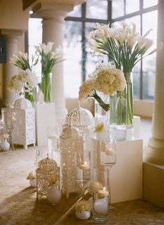 All-white wedding decor with calla lilies Wedding Ceremony Ideas, Wedding Table, Wedding Day, Gold Wedding, Wedding Reception, Wedding Entrance, Decor Wedding, Reception Ideas, Spring Wedding