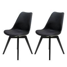 Popular Stuhl Bess er Set Birke teilmassiv Kunststoff Schwarz Tenzo