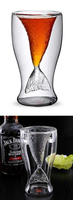 Fishtail shot glass...potential b-day gift for my love.