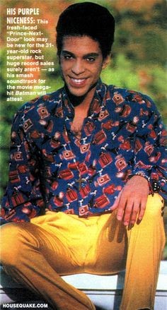 This is one of the few photos of Prince I really don't like, the eyes don't look like his and those horrible banana pants draw attention to his hamster balls :/